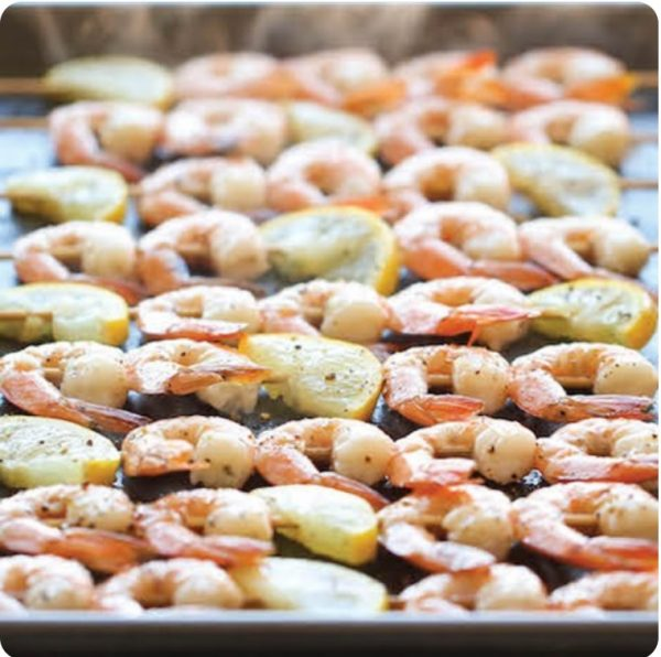 GRILLED-SHRIMP-WITH-BUTTER-AND-CORIANDER SAUCE