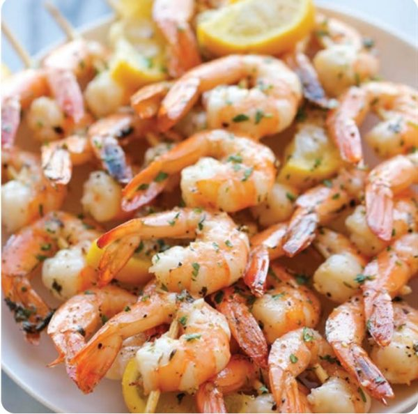 GRILLED-SHRIMP-WITH-BUTTER-AND-CORIANDER SAUCE1