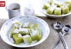 PANDAN RICE CAKES-WITH-COCONUT-MILK