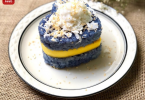 BUTTERFLY PEA STICKY RICE WITH MANGO