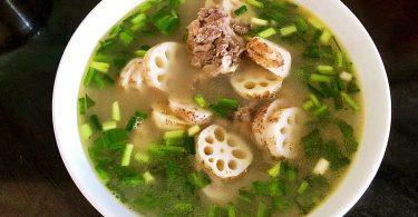 lotus root with pork soup